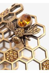 Alexander Mcqueen Honeycomb Bee Cuff Bracelet in Gold - on the Lyst website, very pricy but very nice
