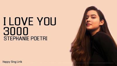 terjemahan lirik lagu i love you stephanie poetri lirik