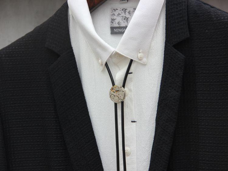 14e309c9939d Men's stainless steel bolo tie steam punk fashion accessory   bolo ...