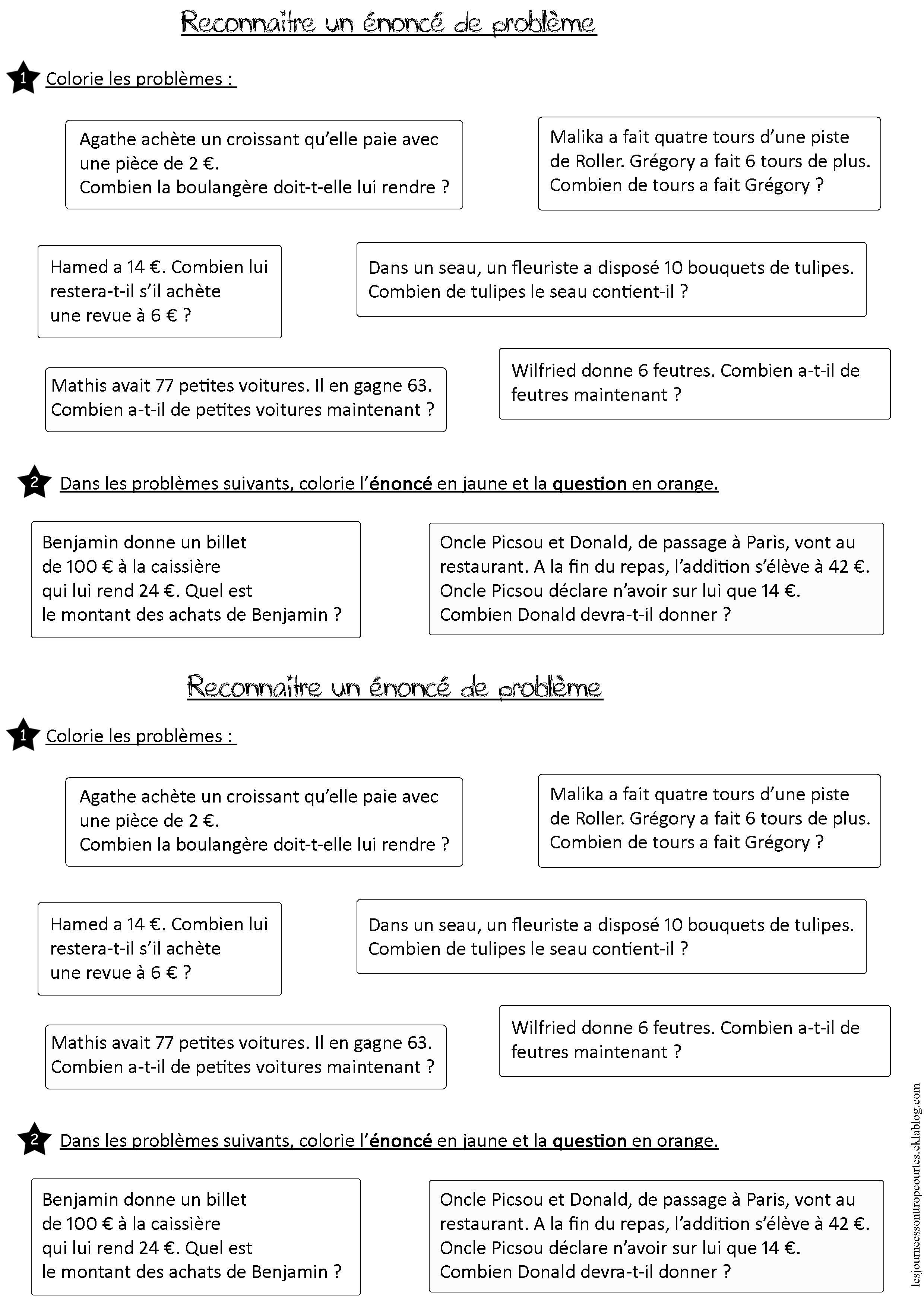 Elaborer Des Strategies Pour La Lecture D Enonces De Problemes Ce2 Problemes Ce2 Lecture Ce2