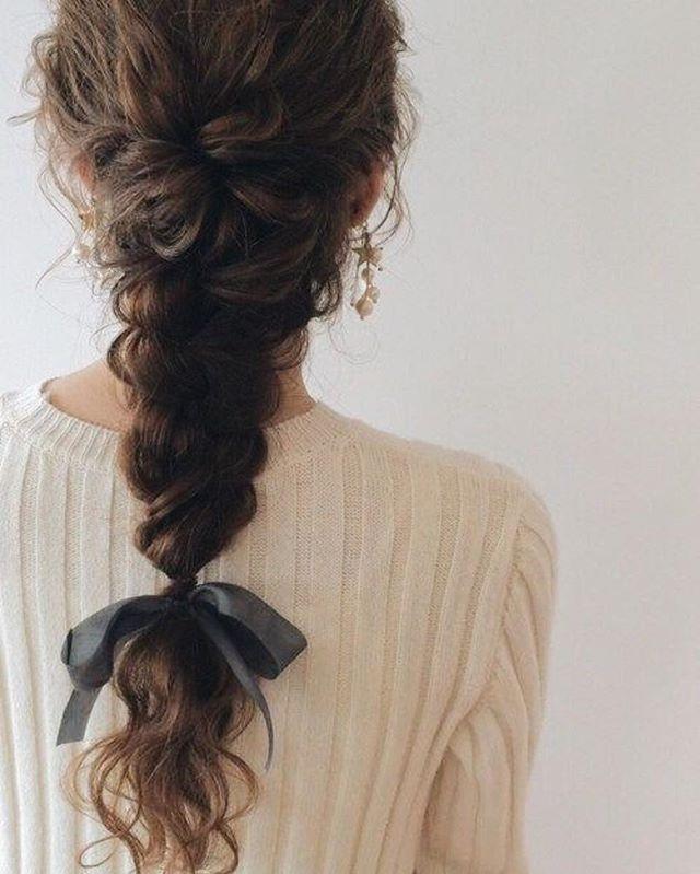 Pretty braids for curly hair