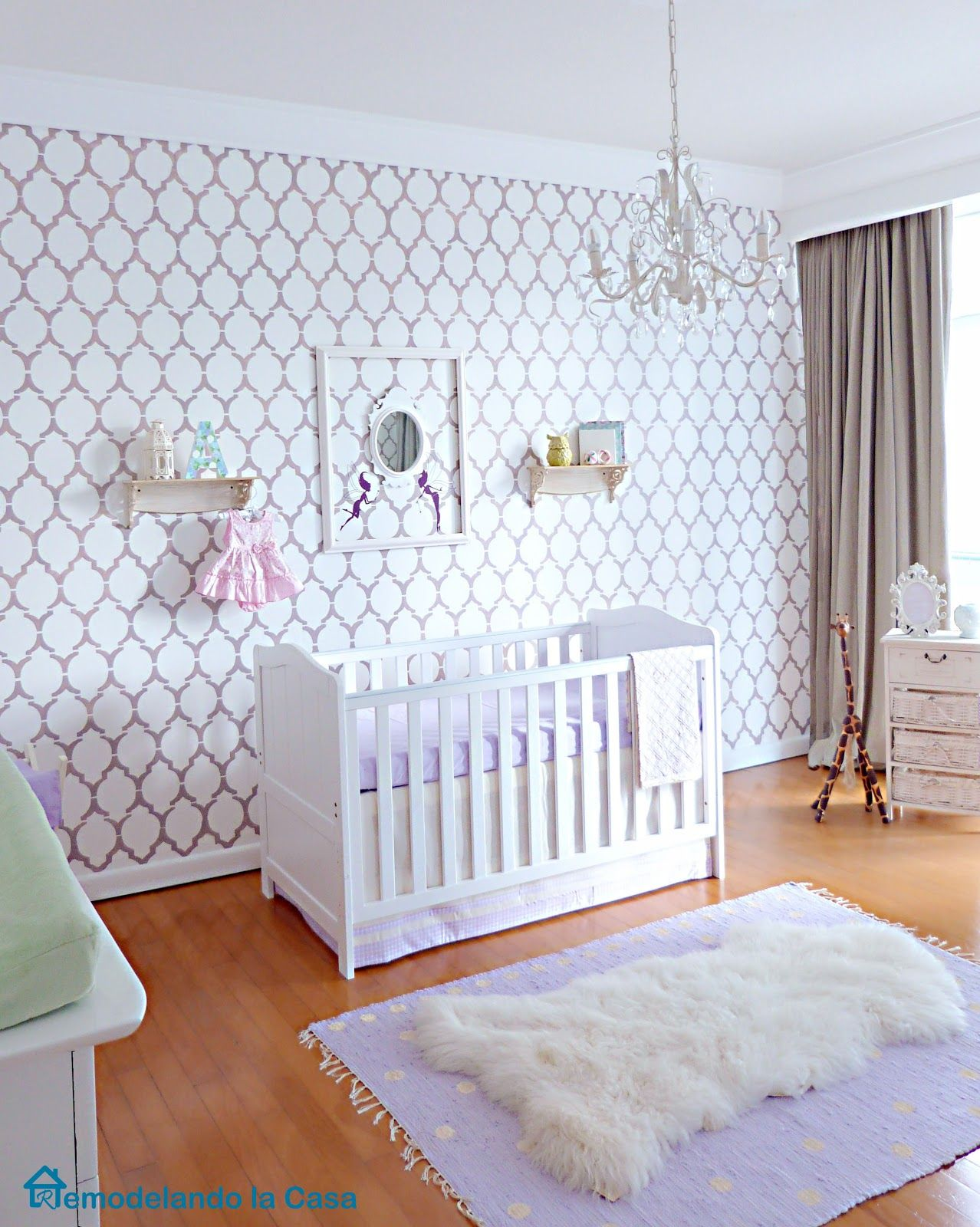 Antonias stylish nursery stylish baby girls nursery and babies antonias stylish nursery amipublicfo Images