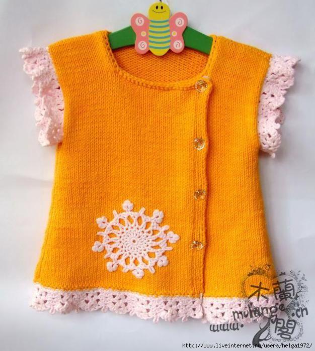 Pin de Белкина Юля en девочкам спицами | Pinterest | Ropa para bebe ...