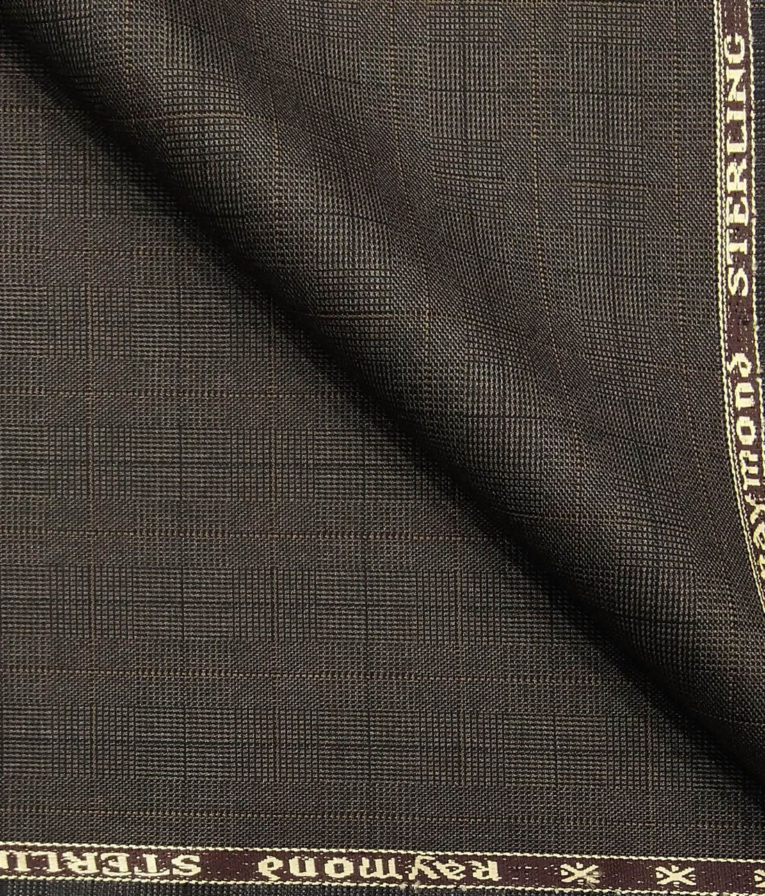 ffb11f292 Combo of Raymond Dark Brown Self Checks Trouser Fabric With Exquisite  Off-White Cotton Blend Shirt Fabric (Unstitched)