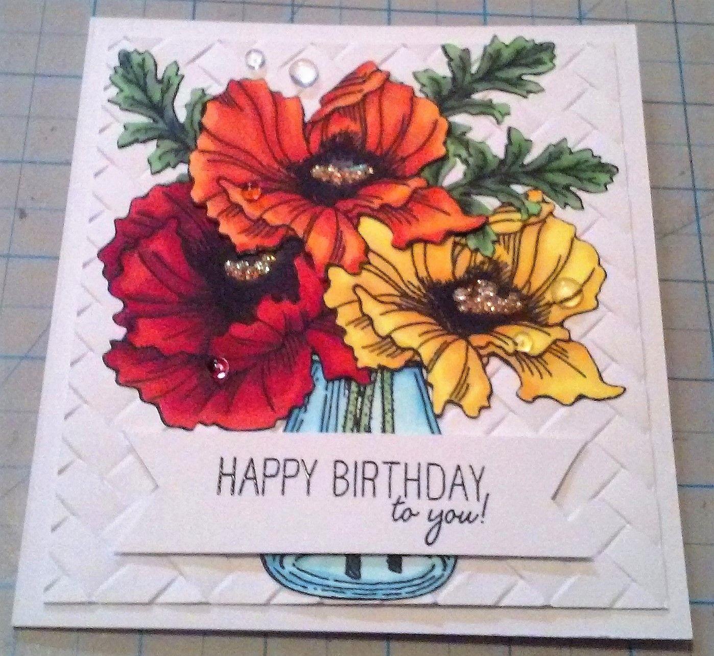 Happy Birthday using Stampendous