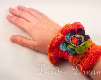 Bracelet-Handmade Crochet Beadwork Luxury di PinaraDesign su Etsy