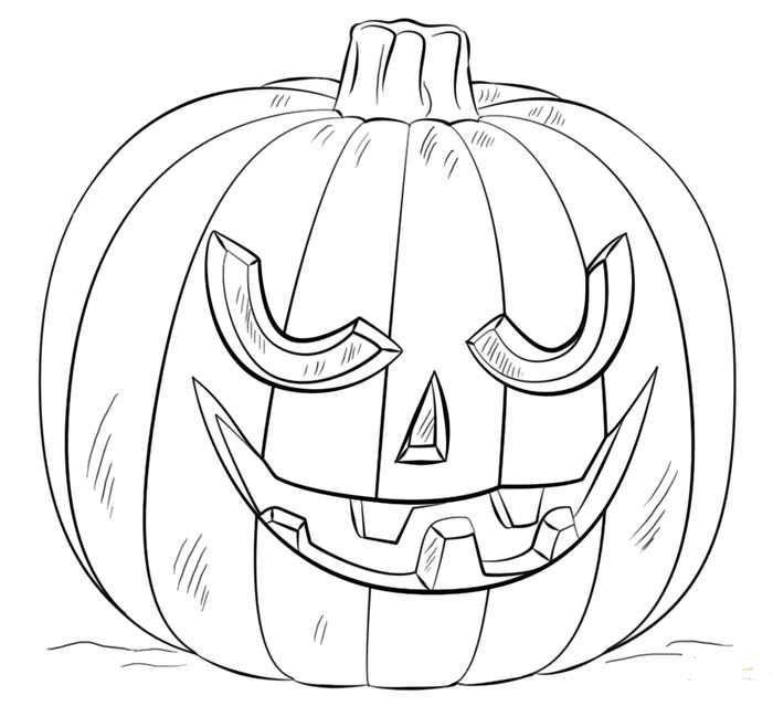 Creepy Jack O Lantern Coloring Sheet | Halloween coloring ...