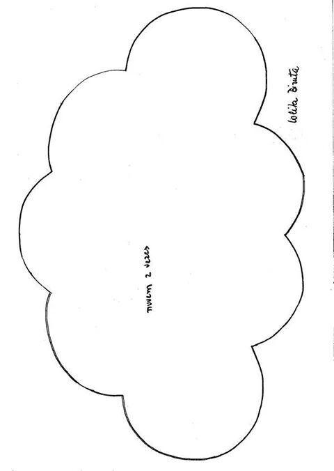 Bulut Kece Kalip Bulutlar Desenler Aplike