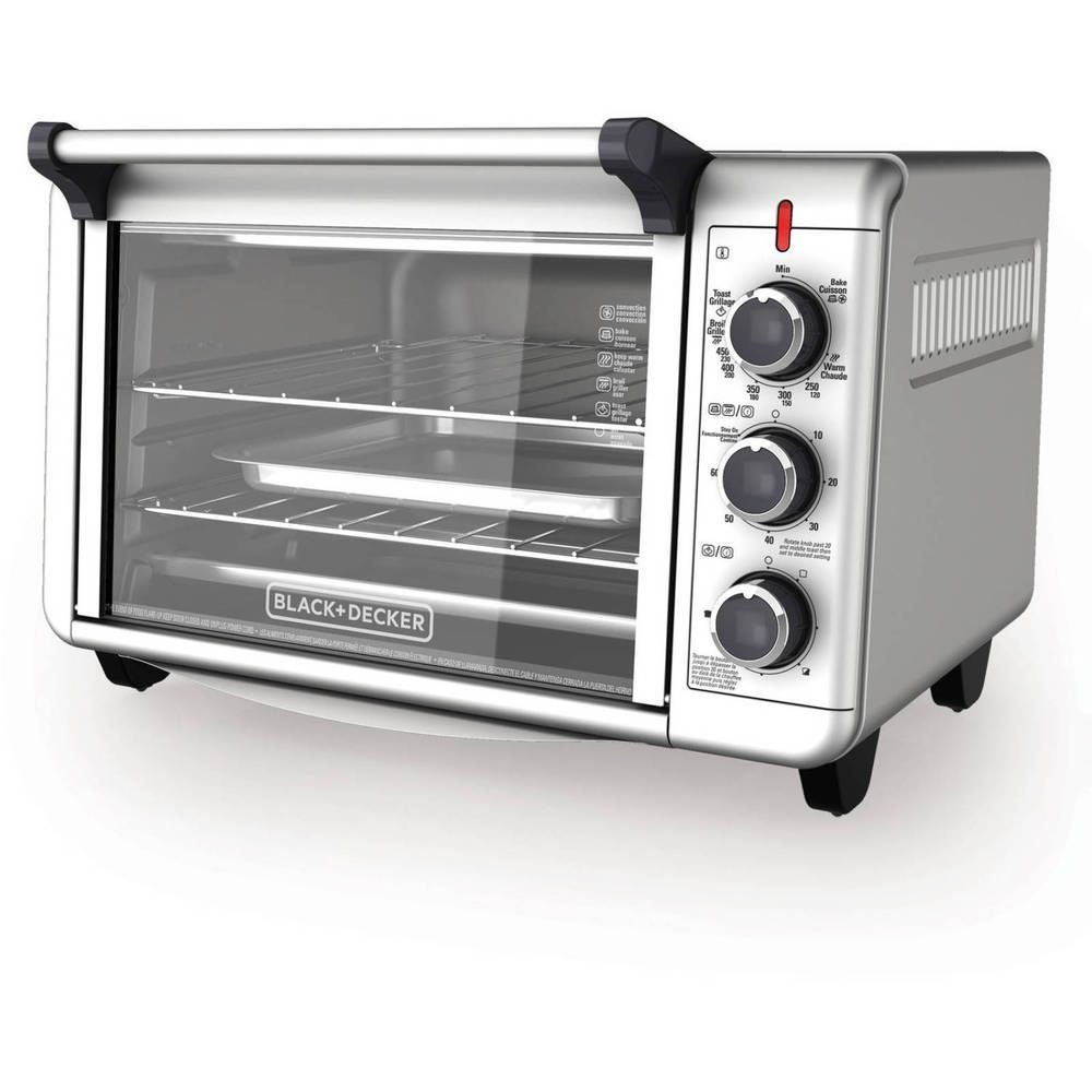 Convection Countertop Oven Stainless Steel 3 Rack Pizza 6 Slice