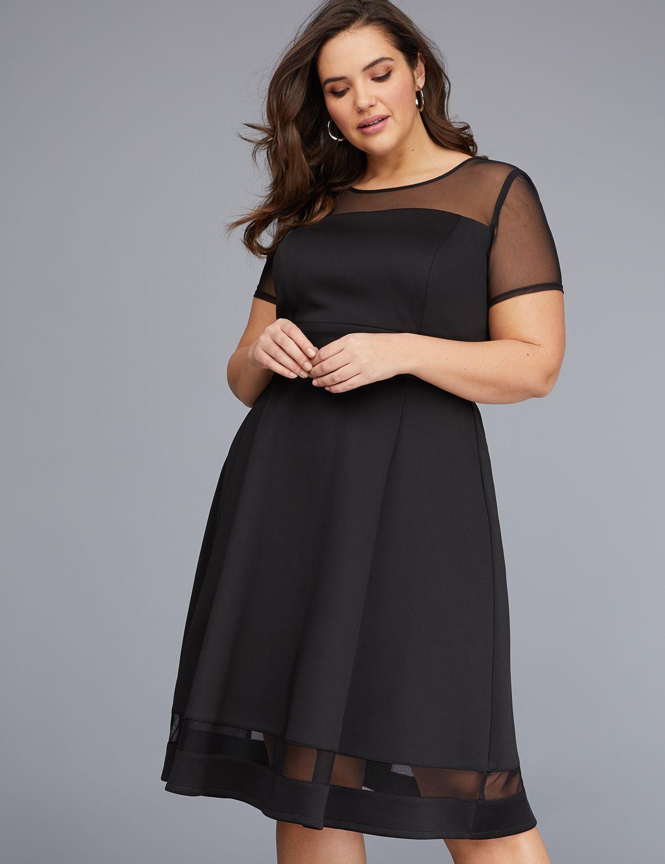 Order Details Lane Bryant Flare Dress Fit Flare Dress Mesh Sleeves [ 1500 x 1154 Pixel ]
