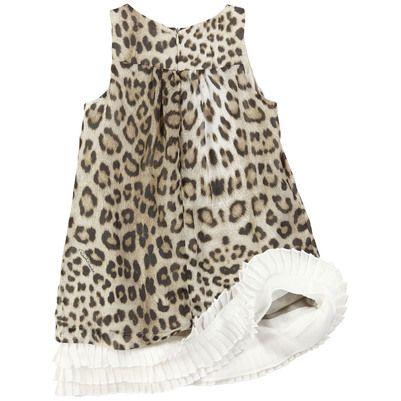 a7a65147a1a4 Roberto Cavalli Kids leopard-printed silk muslin dress | ♥ Little ...