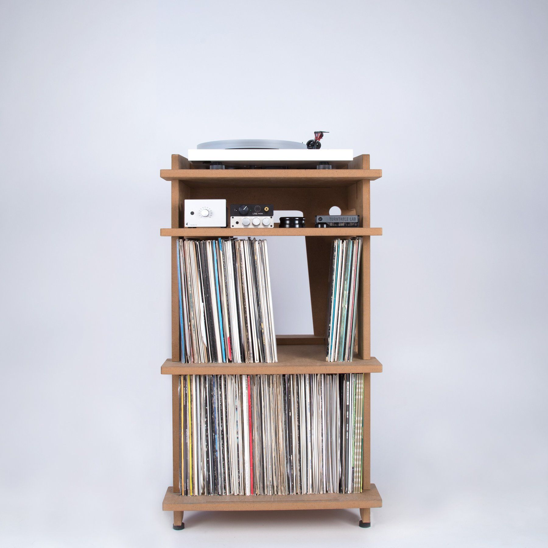 Line Phono Turntable Station Turntable Stand + Vinyl Record