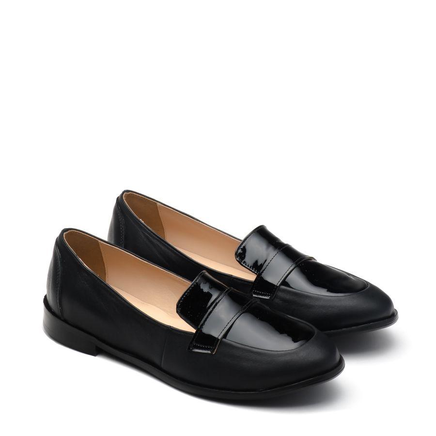 Mango X 2161 Czarny S Licowa Lakier Dla Niej Noevision In 2020 Loafers Shoes Fashion