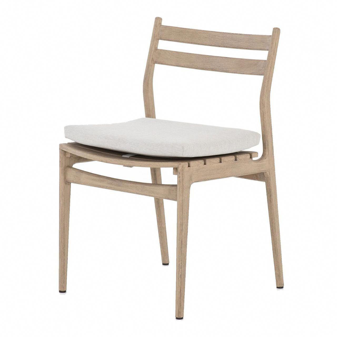 Atherton brown teak outdoor dining chair zin home