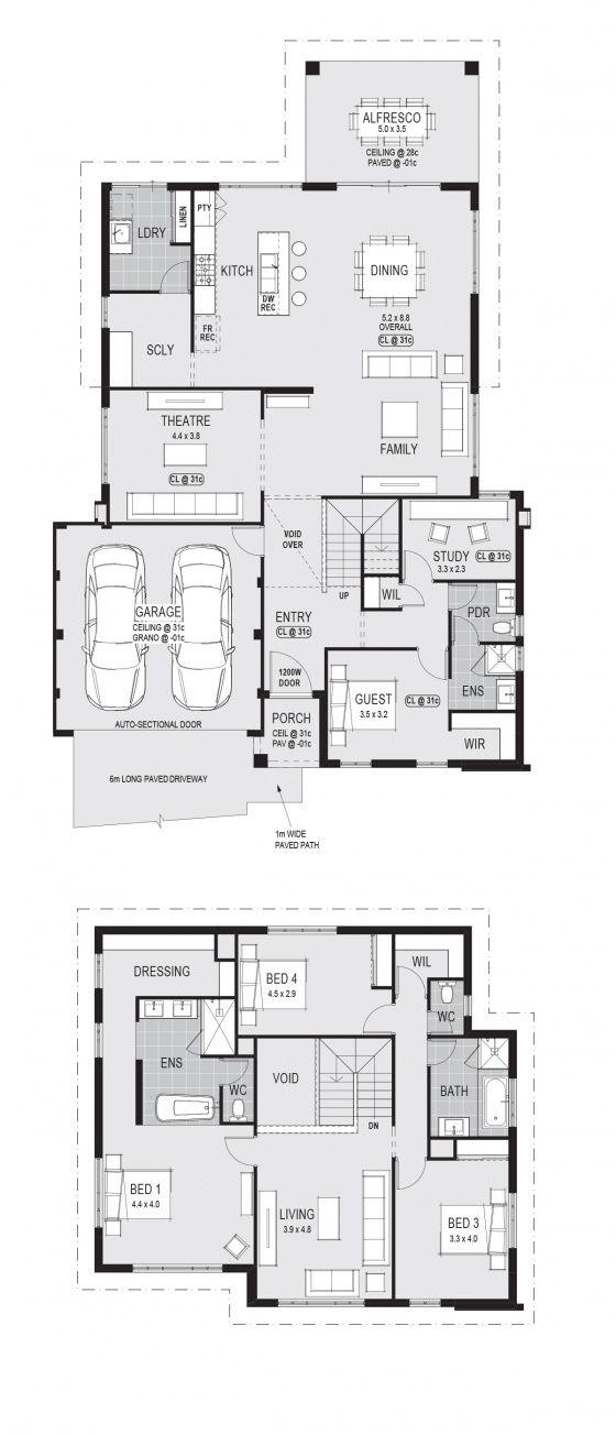 Pin By Ilka Senaga On House Plans Craftsman Floor Plans Home Design Floor Plans Two Storey House Plans
