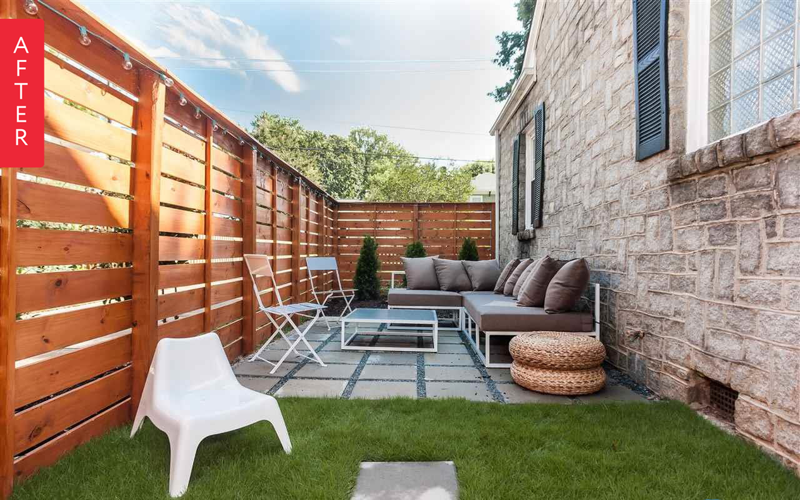 Before & After: Side Yard to Secluded Social Space