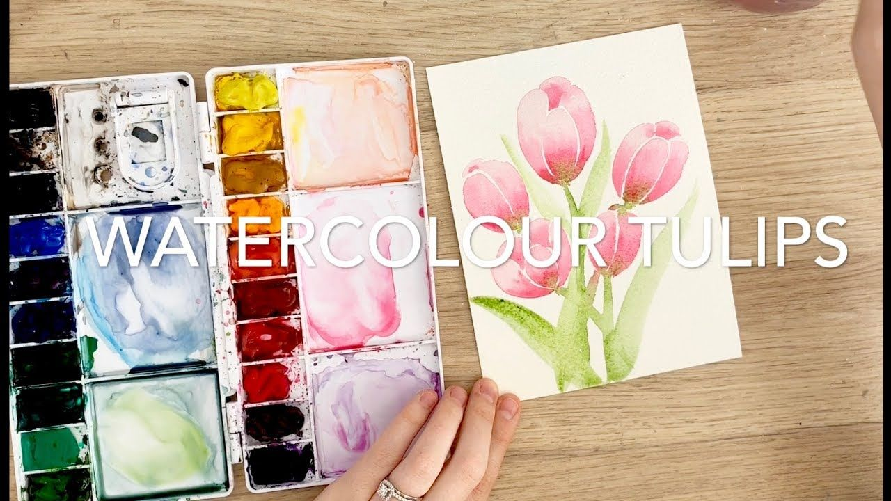 Watercolour Tulips By Emma Lefebvre Beginner Watercolour Tutorial