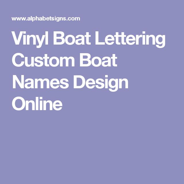 vinyl boat lettering custom boat names design online