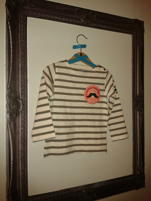 "T-shirt moustachu : une bidouille rapide avec les tranferts textiles ""Moustaches"" de Made for You"