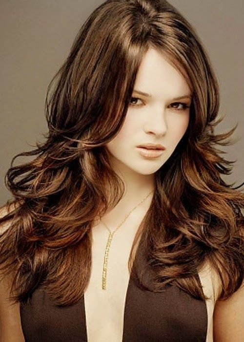 Best Easy Long Layered Hairstyles For Wavy Thick Hair In Dark - Hairstyles for dark brown thick hair