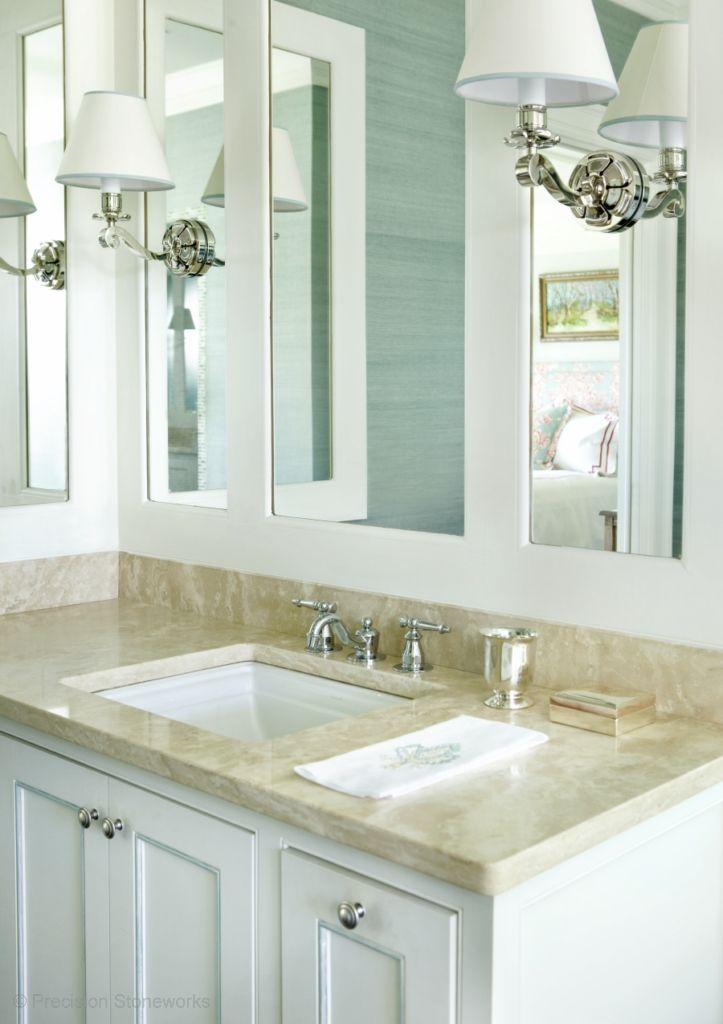 Granite Bathroom Vanity | Love How The Mirror Is Done Master Bathroom And Closet Pinterest