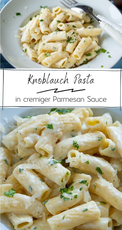 20 Minuten Knoblauch Pasta - cremig, sättigend und mega lecker - Einfach Malene