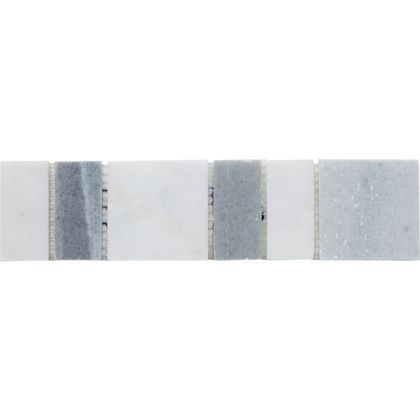 Christy Natural Stone Border Tiles Grey 20 X 5cm 5 Pack