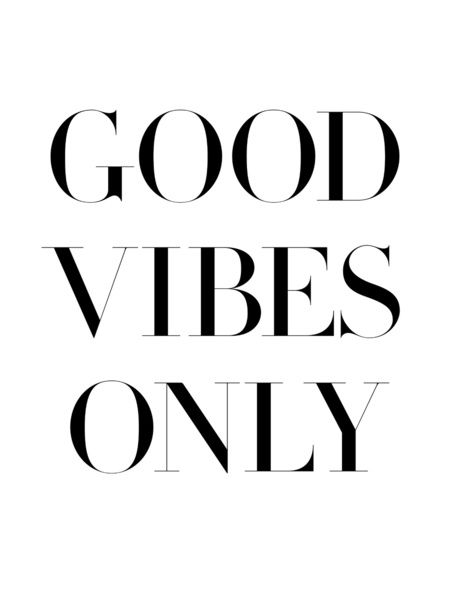 Dorm Kissen Good Vibes Only Art Print By Note To Self: The Print Shop