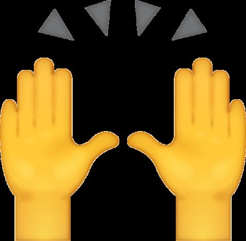 High Five Emoji Download Iphone Emojis High Five Emoji Excited Emoji Emoji