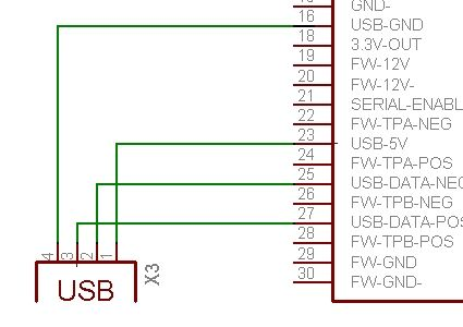 Pinout image of usb wiring ipod dock - connector diagrams