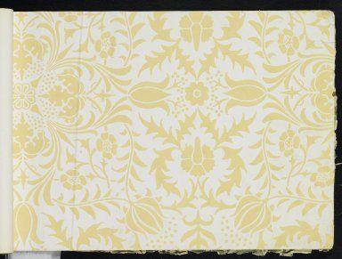 """Borage"", Wallpaper Sample Book, William Morris and"