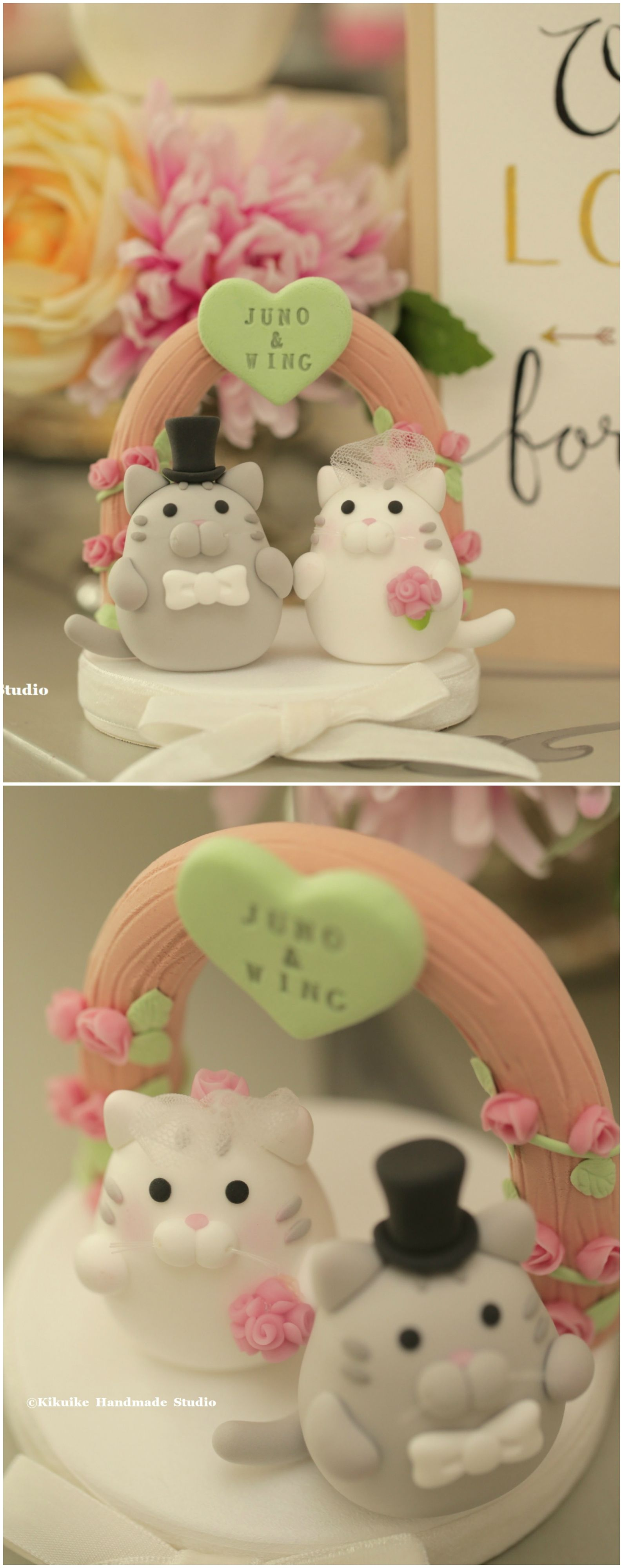 cat and kitty Wedding Cake Topper Wedding cake toppers