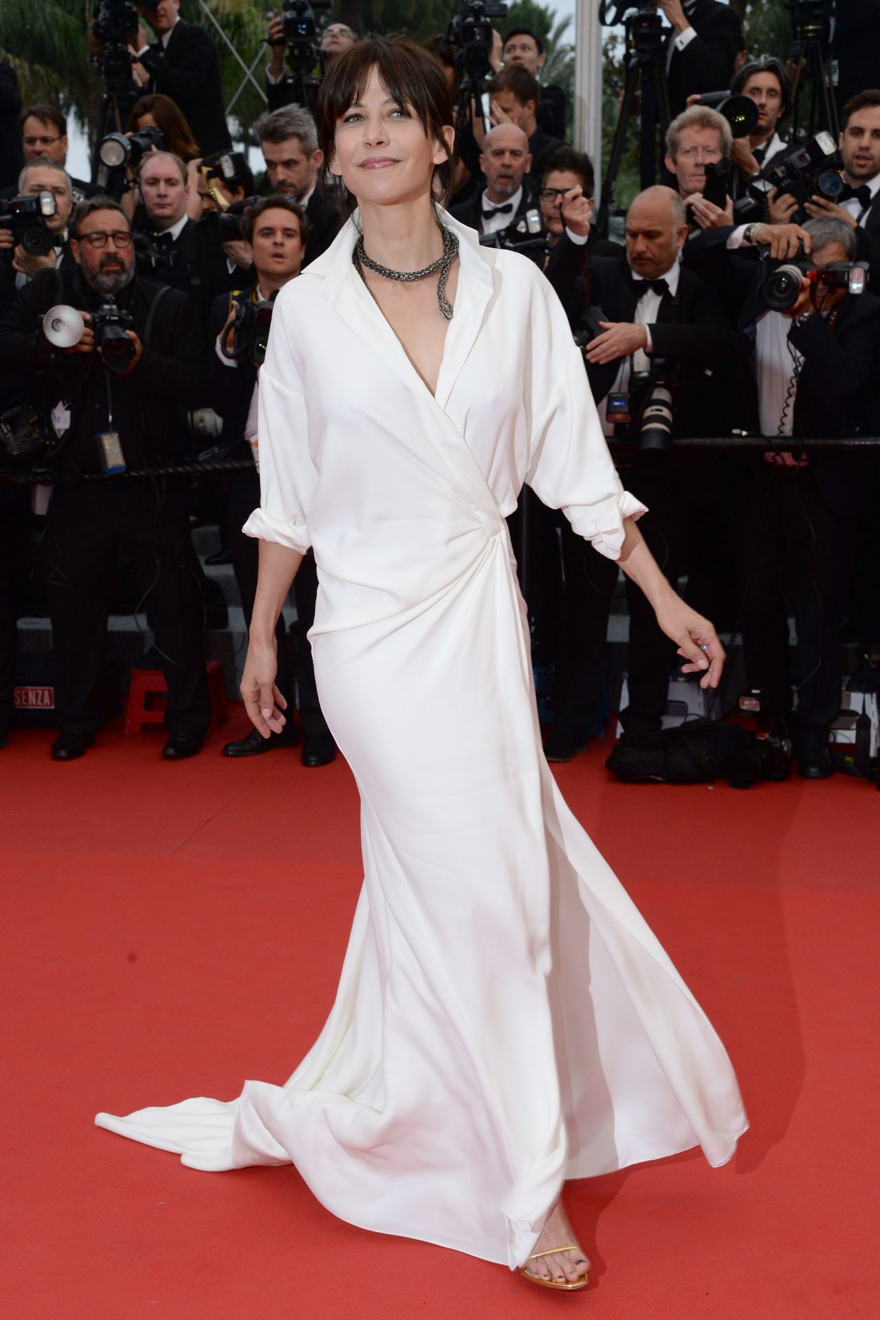 Sophie Marceau in Alexandre Vauthier Couture Gown at Mad Max: Fury Road Premiere at 2015 Cannes Film Festival