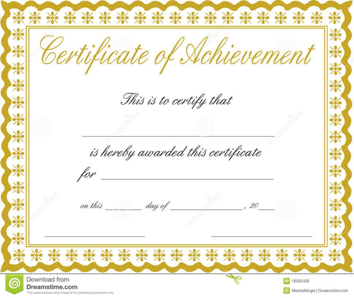 Docx Achievement Certificates Templates Free Certificate Of In Certificate Of Achi Free Printable Certificates Blank Certificate Template Certificate Templates