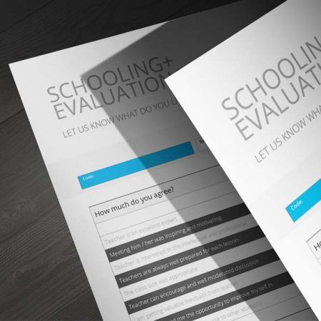 Schooling Evaluation Template CMYK \ Print Ready Clean and - evaluation template