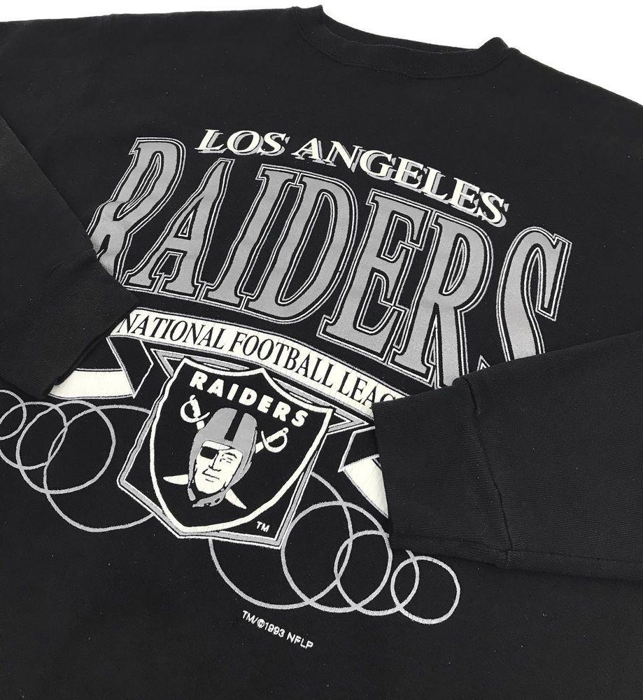 Vintage Logo 7 Los Angeles Raiders Sweatshirt Medium Mens Sweater Nfl Size Sz M Logo7 Crewneck Losangelesraider Vintage Los Angeles Sweatshirts Vintage Logo