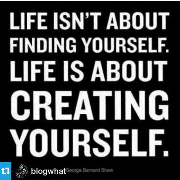 @KNOVAARTS13   Who are you? What do you want to be? You have to create your purpose in life. We are creators