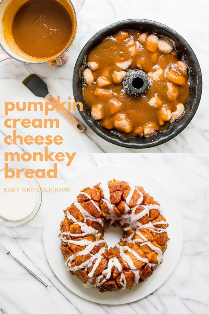 Pumpkin Cream Cheese Monkey Bread