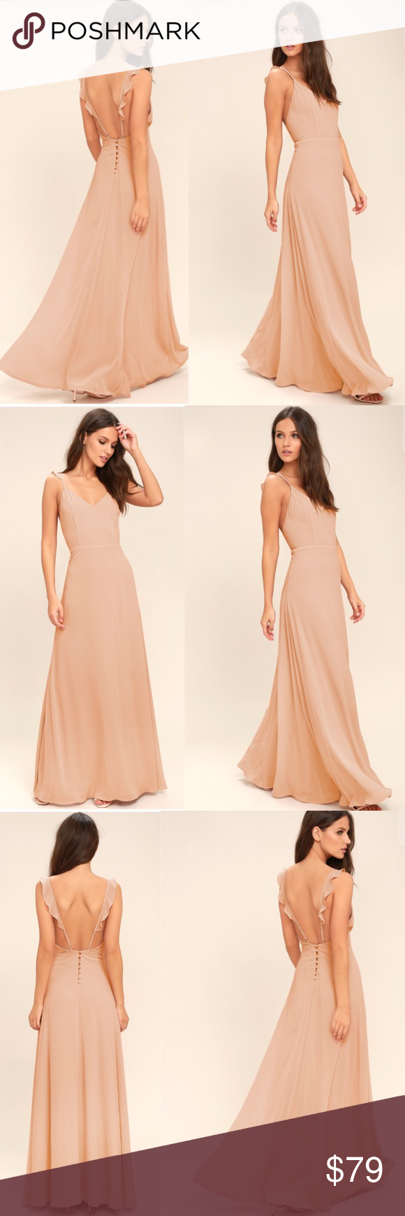 d3ab361061f8 Lulu's Meteoric Rise Blush Maxi Dress Lulus Exclusive! Your allure will be  at an all-time high when you slip into the Meteoric Rise Blush Maxi Dress!