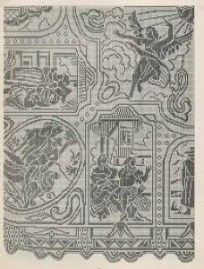 Schemi per il filet: Copriletto con affreschi del Tiepolo