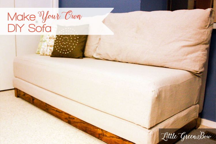 Make Your Own DIY Couch with help from | Bed | Diy couch, Diy