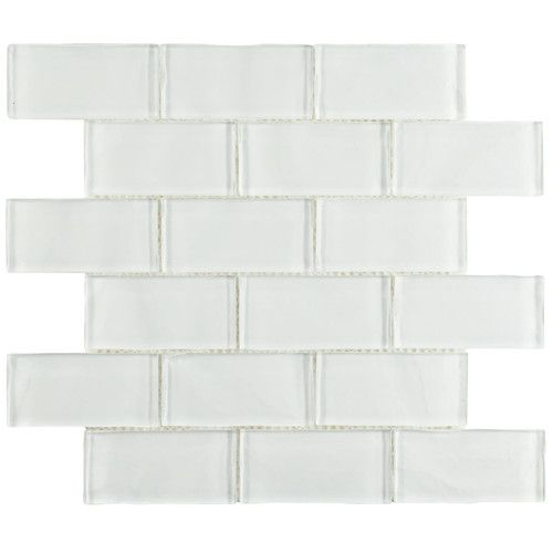"Found+it+at+AllModern+-+Sierra+1.88""+x+3.75""+Glass+Mosaic+Tile+in+Ripple+White"