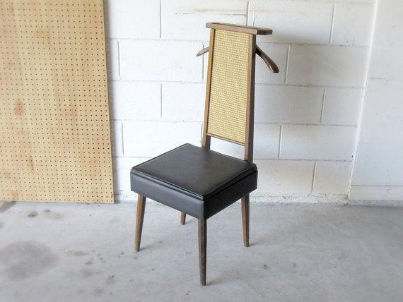 Vintage Mad Men Era Valet Chair Butler Chair Wooden By Verdibou