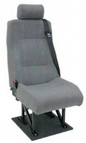 Deluxe High Back Seat With Adjustable Rest Tested Van Rear Kit Headrest Integral Inertia Wide Base For Extra Comfort
