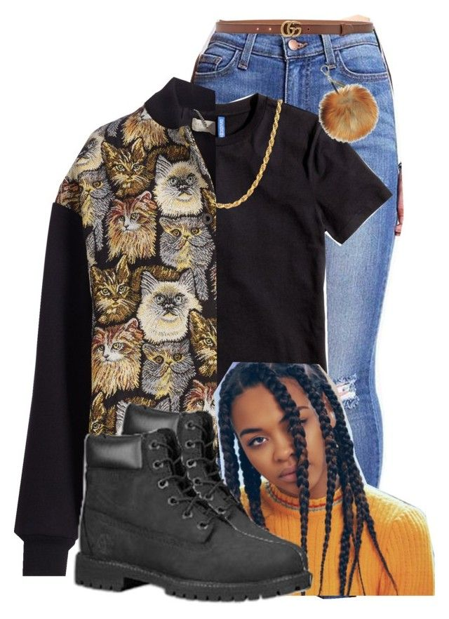 """Dvm Chains - Fetty Wap"" by doggydoddyfroggymoppy ❤ liked on Polyvore featuring H&M, Sterling Essentials, STELLA McCARTNEY, Timberland and Gucci"