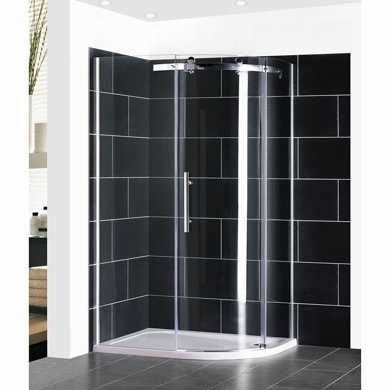 Brand New Walk In Quadrant Shower Enclosure Tray Corner Cubicle 8mm ...