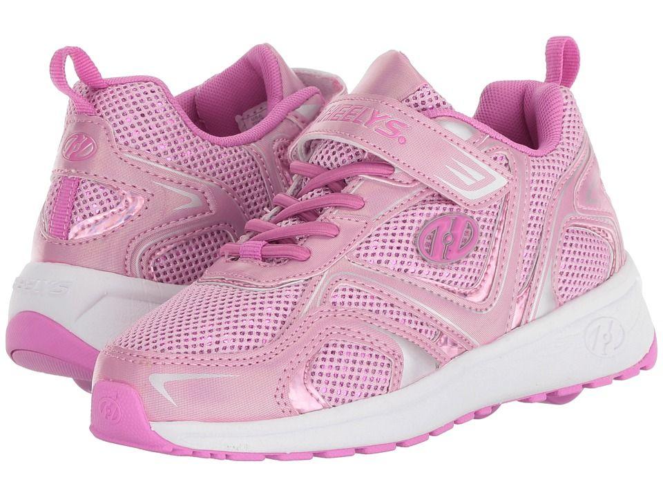 c6793c4a72a80 Heelys Rise x2 (Little Kid/Big Kid) Girls Shoes Pink Sparkle ...