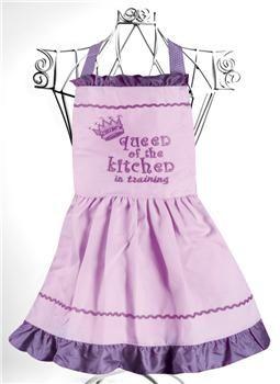 """IOQKPV 8"""" x 22"""" Queen of the Kitchen Child's Apron                                                        izzy children"""