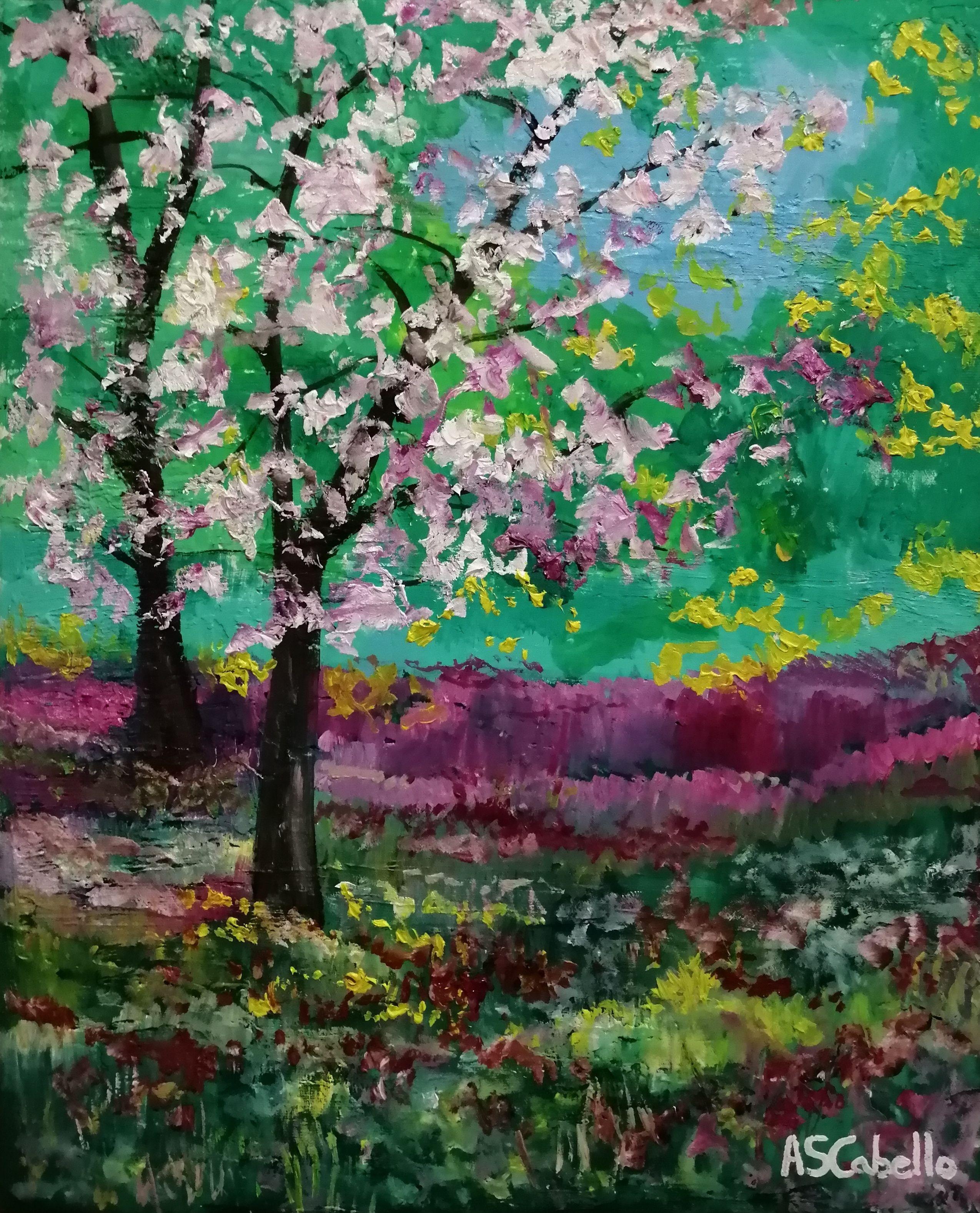 Color En Primavera Cuadro Original Oleo Sobre Lienzo Comprar Cuadros Arte Impresionista Oleo Sobre Lienzo Produccion Artistica