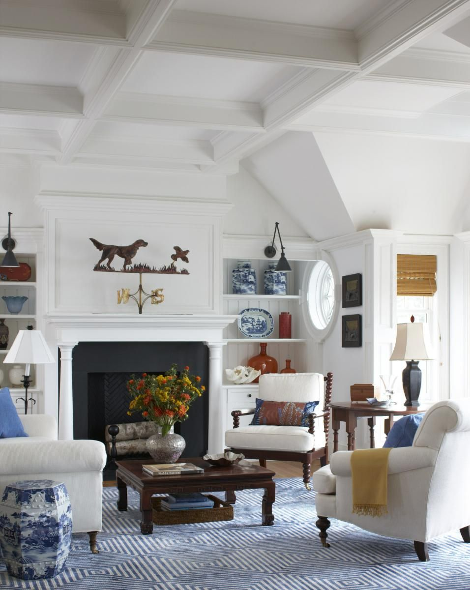 New England Living Room Pin By Jules Anderson On Stylish Homes Pinterest Vineyard